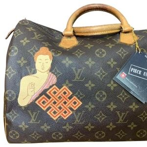LOUIS VUITTON SPEEDY 35 Customized W/ Zen Artwork